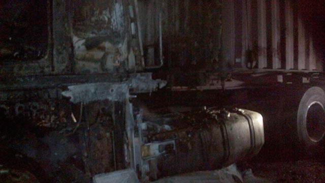В Іллінцях загорілась вантажівка