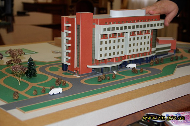 У Вінниці презентували ескізний проеут будівлі сучасного кардіодіагностичного центру