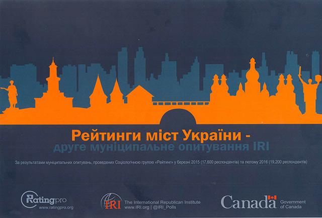 Вінницю визнано лідером серед міст України за якістю життя і послуг