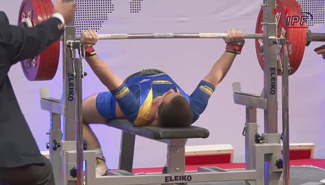 Вінничанин Іван Чупринко побив свій рекорд із жиму лежачи та підтвердив статус чемпіона світу з пауерліфтингу