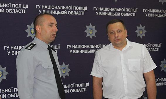 Юрій Педос представив двох нових керівників головного управління Нацполіції Вінниччини
