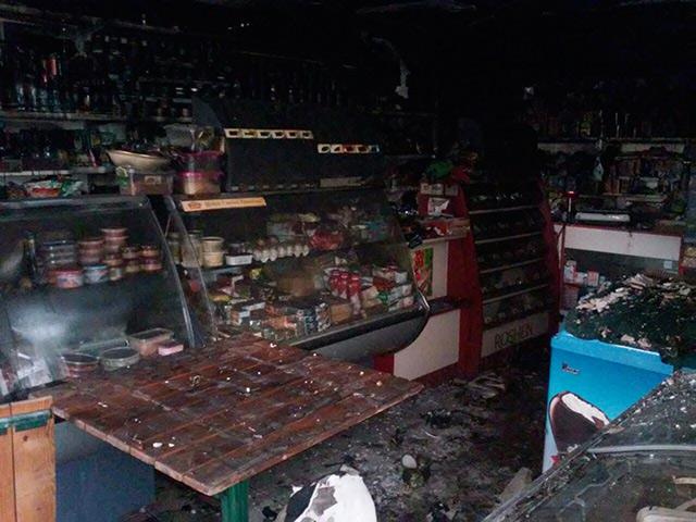 На Вінниччині за нез'ясованих обставин згорів продуктовий магазин