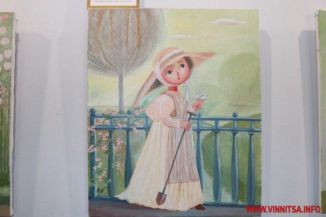 """Вінничан запрошують відвідати виставку картин """"Чаюваня в саду"""" художниці Ольги Кравцової-Моцпан"""