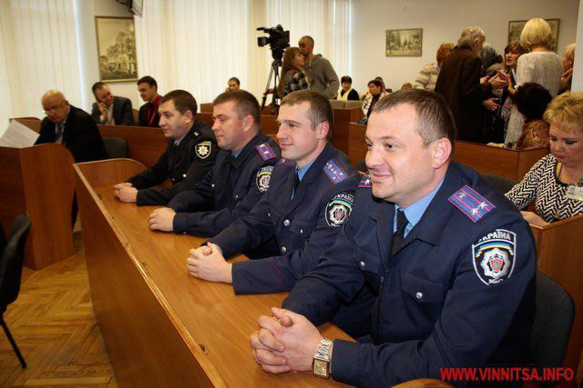 Підполковник поліції Олександр Остачинський, майор Данило Саломко, капітан Юрій Латанський, старший лейтенант Богдан Гуменний
