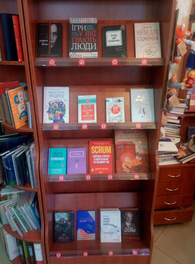 Які книги та автори були в топі серед вінничан у 2016 році?