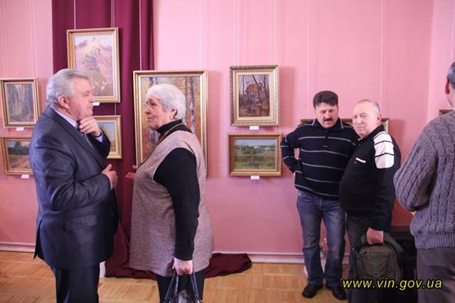 В обласному художньому музеї урочисто відкрилась виставка робіт Заслужено художника України, Григорія Зорика