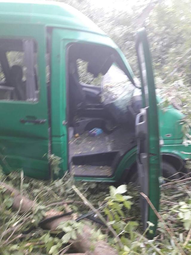 В Липовецькому районі перекинувся мікроавтобус. Троє людей травмовано