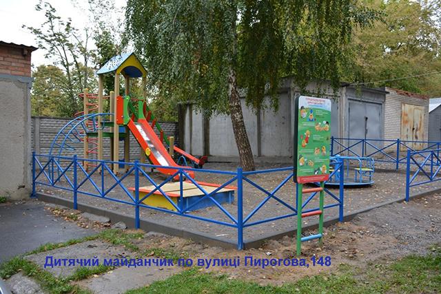 У Вінниці завершується спорудження п'яти дитячих та спортивних майданчиків у різних куточках міста