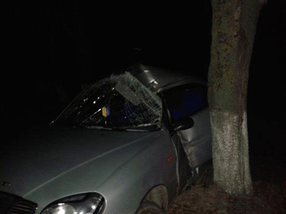 У Томашпільському районі водій Daewoo влетів у дерево