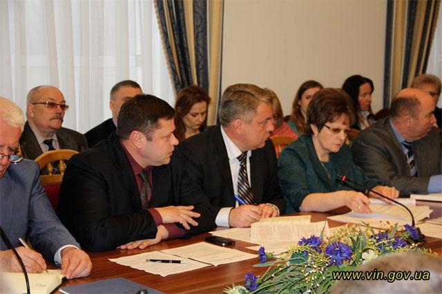 Новий голова Вінницької ОДА Валерій Коровій провів першу робочу нараду