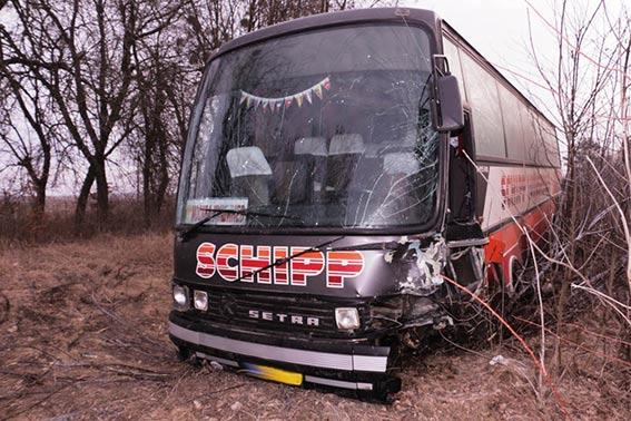 """Під Вінницею """"Тойота"""" зіштовхнулась з рейсовим автобусом. Водій легковика загинув"""