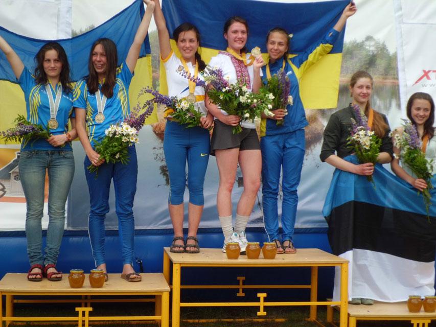 Вінничанки Захарова Поліна, Дзема Катерина та Басюк Анастасія вибороли перше місце на Чемпіонаті Європи зі спортивного орієнтування