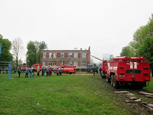 У Жмеринському районі через розряд блискавки загорілася школа