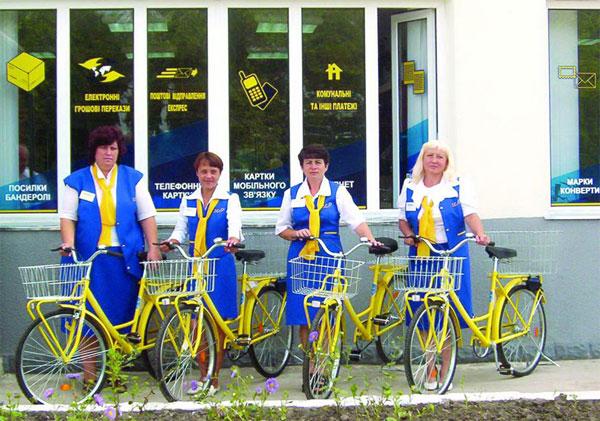 велосипеди для листонош