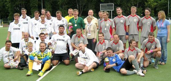 Міжнародної збірна команда байкерів зіграла у футбол з працівниками Вінницького міськвиконкому