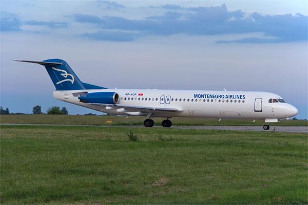 Чорногорські авіалінії, літак Fokker 100