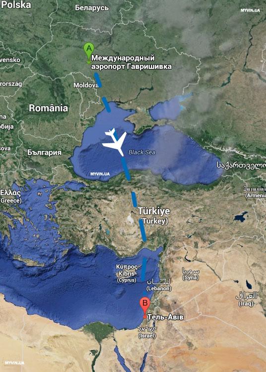 авіа-рейси з Вінниці до Ізраїлю