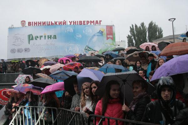 Музичне свято 20 вересня на оновленій площі перед універмагом, Вінниця