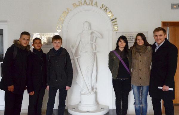 до Вінницького апеляційного адміністративного суду завітали учні 10-11 класів школи-гімназії № 23