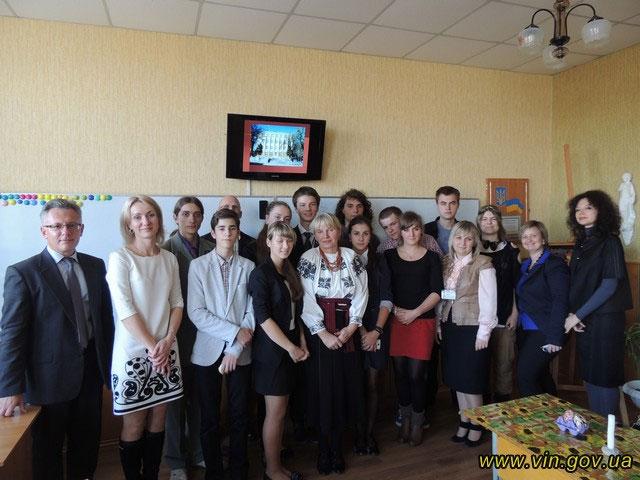 на Вінниччині перебуває група польської молоді з художнього ліцею ім. Станіслава Виспянського з м. Єлєня Гура