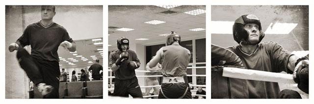 Фоторепортаж з відкритого тренування В'ячеслава Узєлкова в рамках підготовки до боксерського турніру 9 листопада