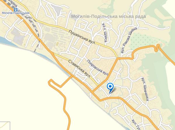 Карта Могилів-Подільського