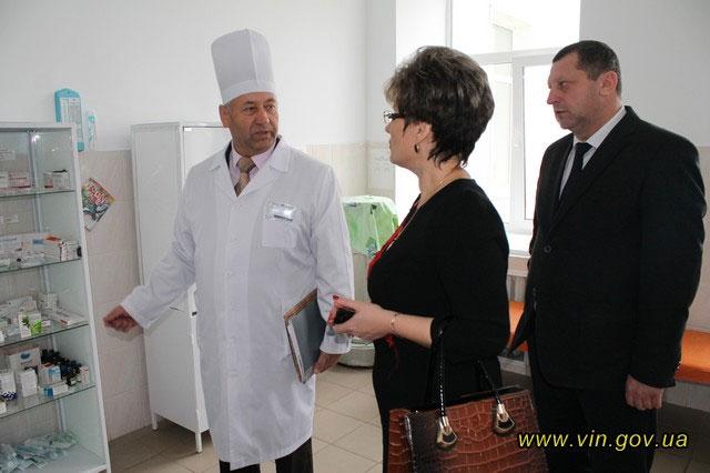 Любов Спірідонова відвідала Літинську центральну районну лікарню