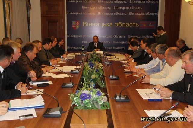 Іван Мовчан зустрівся з представниками асоціації фермерів та приватних землевласників Вінницької області