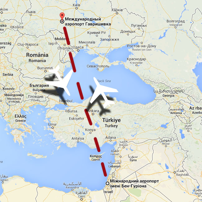 Рейс з Вінниці до Ізраїлю