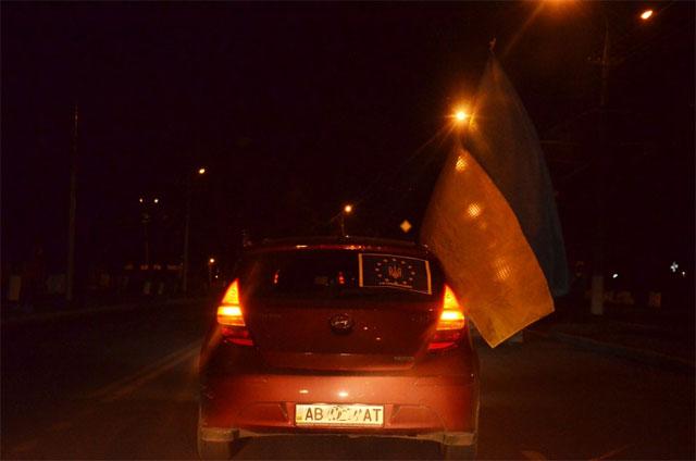 У Вінниці відбувся вечірній автопробіг за європейський вибір України