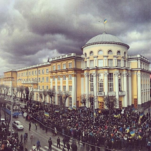 мітинг за Євроінтеграцію у Вінниці