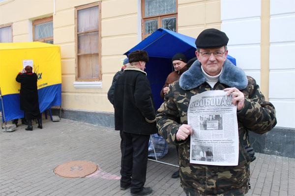 політики захоплюють Євромайдан у Вінниці