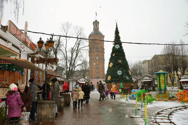 Рождественская ярмарка на Европейской площади