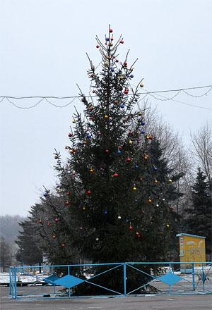 новорічна ялинка у парку Дружби Народів