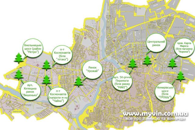 де у Вінниці продають «легальні» новорічні дерева