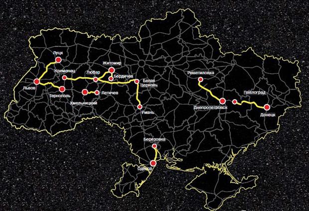 Самые разбитые автотрассы Украины