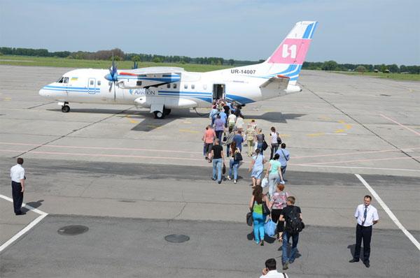 посадка на літак Вінниця - Москва