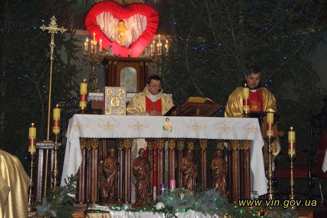 Літургія у храмі Святого Флоріана в місті Шаргород