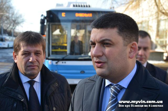 У Вінниці презентували перший із очікуваних 40-ка нових тролейбусів «Богдан»