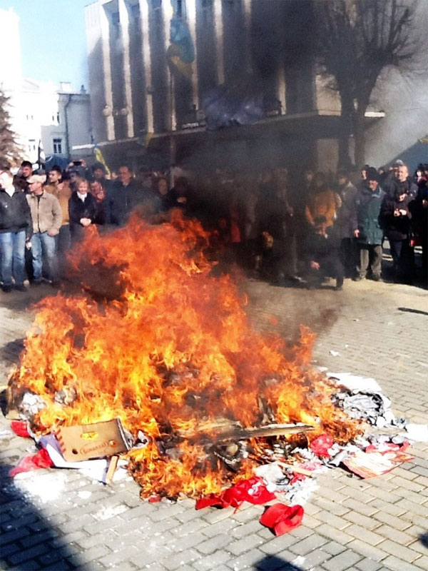 У Вінниці розгромили офіс комуністів