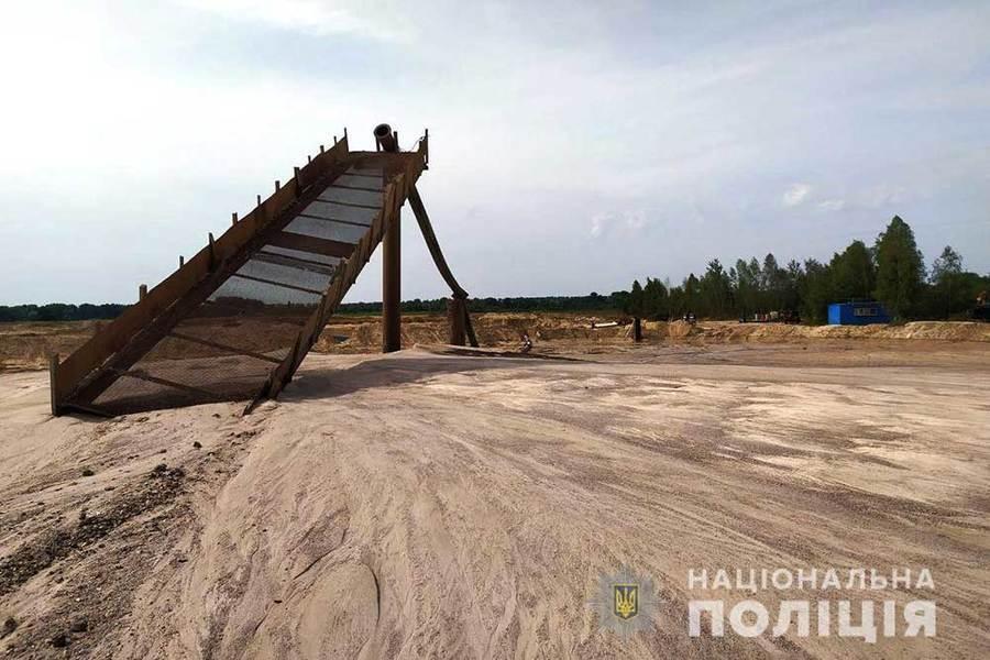 На Вінниччині поліцейські припинили незаконний видобуток піску