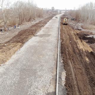 По вул. Гонти вже проклали 1150 метрів основи для нової дороги